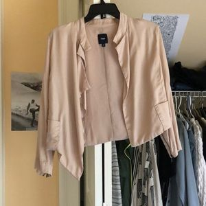 GAP light pink satin jacket
